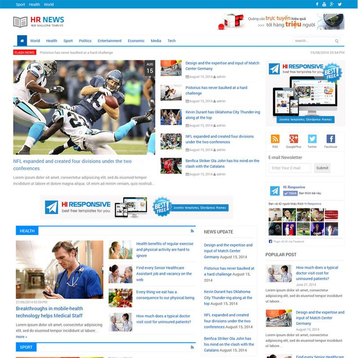 Free Web Template Newspaper Forteforic