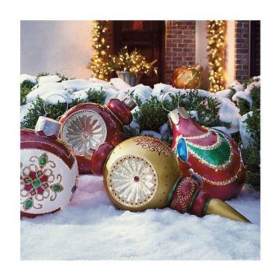 so pretty giant christmas ornaments fiber optic outdoor. Black Bedroom Furniture Sets. Home Design Ideas