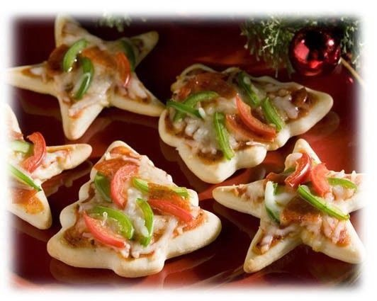 """I sometimes have a hard time coming up with snacks/appetizers to take to a party or event! Here are some great ideas for Christmas party foods! Cheese """"Stars"""" and Fruit Christmas Tree Cheese Board Cookie Cutter Mini Pizzas Caprese Skewers Pine Cone Cheese Ball Vegetable Tray Christmas Tree Fruit Christmas Tree  Mini BLTs Cheese...Read More »"""