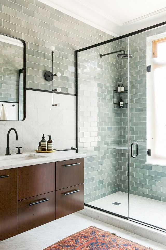Instagram First Tipped Us Off To The Fact That Seafoam Green Was Trending In Bathrooms Everywhere Coveteur Bathroom Bathroom Trends Bathroom Inspiration