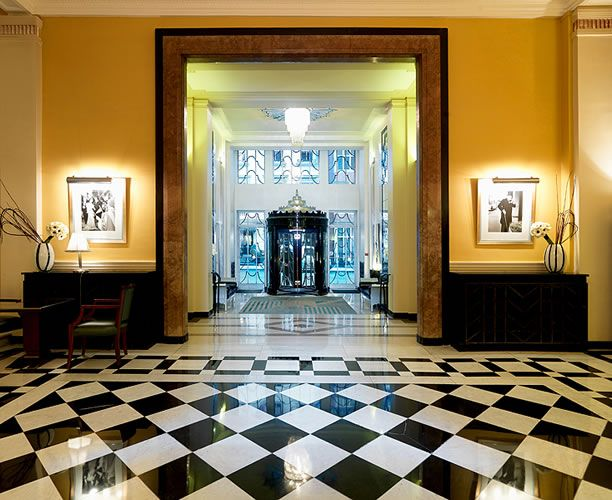 The Obsidian Hotel Fluctuates Between Being Abandoned And Brand New This Entrance Of Claridge S In London Is A Great Example Shiny Art Deco