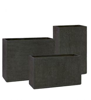Hoher Pflanzkübel anthrazit in Beton Optik aus Fiber Zement - toll als Raumteiler, Sichtschutz und Schallschutz #pflanzkübel