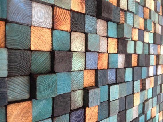 Escultura de pared de madera arte de la pared por WallWooden
