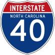 North Carolina Interstate 40 Westbound - To Barstow ,California