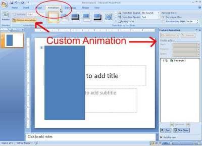 Animasi Pada Ms PowerPoint 2007 | Berbagi Tak Pernah Rugi