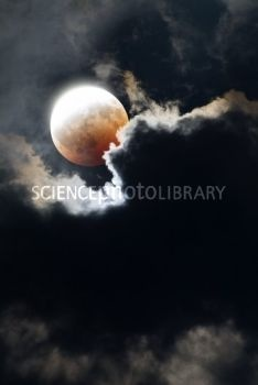 partial lunar eclipse | Partial lunar eclipse - Stock Image C002/1205 - Science Photo Library