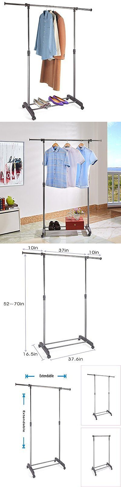 Garment Racks 166325: Proaid Adjustable Single Rail Garment Rack Portable Clothing Hanging Rolling -> BUY IT NOW ONLY: $40.79 on eBay!