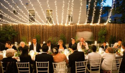 rustic reception decorating with lights - Google Search