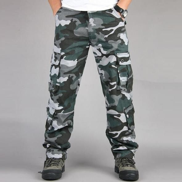 Camo Pants Males Navy Multi Pocket Cargo Trousers Hip Hop Joggers Streetwear City Overalls Outwear Camouflage Tactical Pants