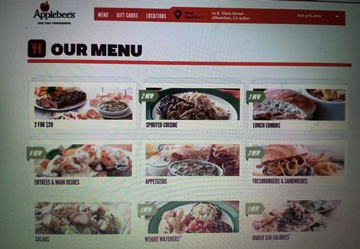 """14. Applebee's website is less modern in comparison to Ruby Tuesday's and TGI Friday's sites. On the other hand, I found that Applebee's had a lot of  promotions, which was important for my budget. In addition, they had healthy kid meals and a weight watchers and """"under 550 calories"""" menu. Furthermore, I found the allergen information in their website. Applebee's fulfilled all my essential criteria! I think that the whole team will be happy there. Also, my previous experiences were great!"""