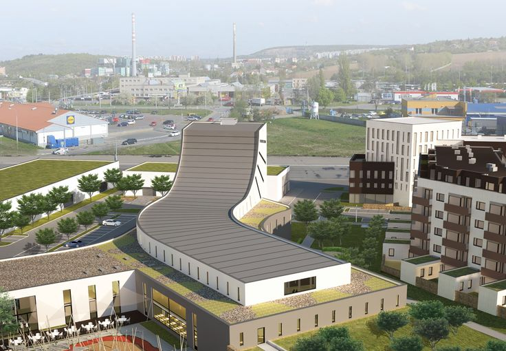 Vizualizace toho, jak bude herní centrum BRuNO family park umístěno v Brně-Slatině