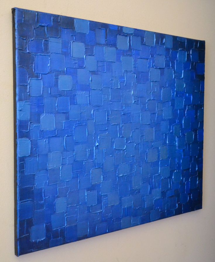 Original Modern Metallic Blue Painting 24x20 Palette Knife Abstract Geometric Heavy Texture Art Ready to Hang Home Decor by ZarasShop on Etsy https://www.etsy.com/listing/156789867/original-modern-metallic-blue-painting