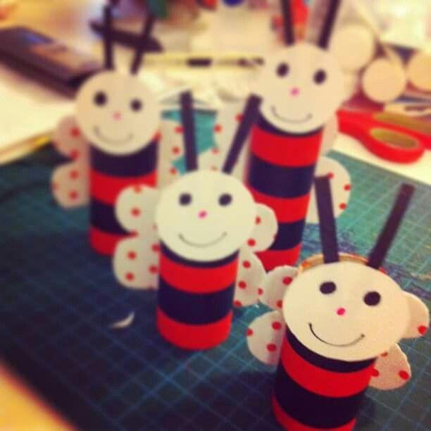 Paper ladybugs!!!!