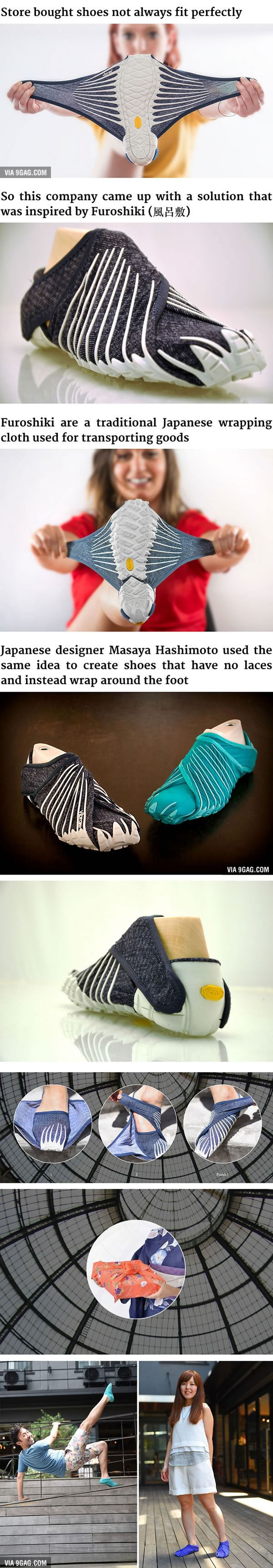 These New Japanese-Inspired Shoes Can Wrap Around Your Feet PARECE UNA MANTARRAYA ,YA ME VERE ENCARAMADA EN ELLOS ;) ;)