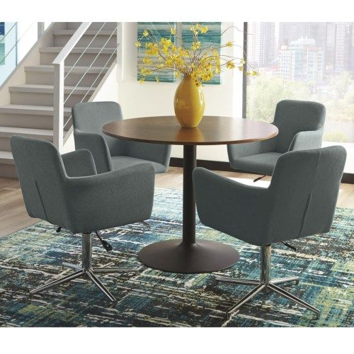 Scott Living Montoya Modern Round Dining Table Set - Coaster Fine Furniture