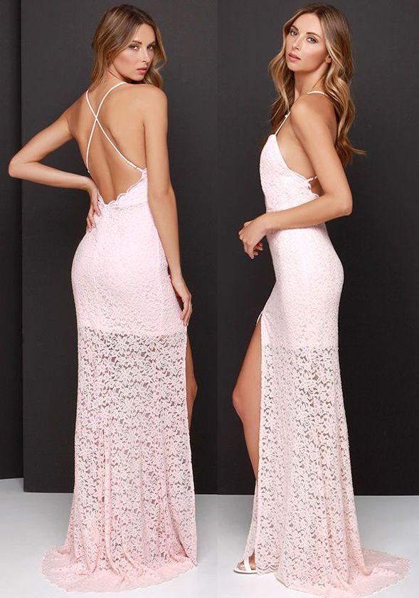 Gorgeous Pink Lace Dress