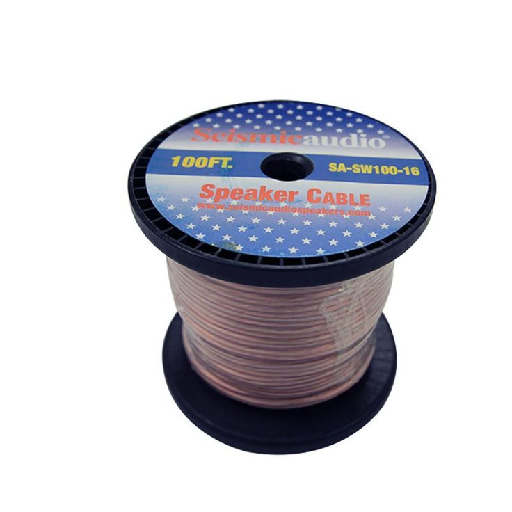 100 foot spool of speaker wire 16 gauge