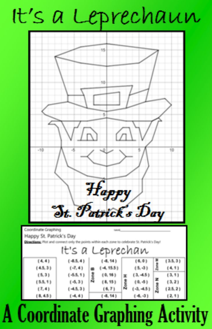 worksheet Pumpkin Coordinate Graph 94 best common core 7th grade math images on pinterest celebrate st patricks day as only a class can with this festive coordinate graphing