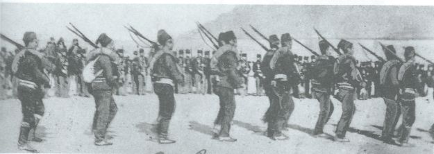 Departure of Ottoman troops from Crete. November 1898.