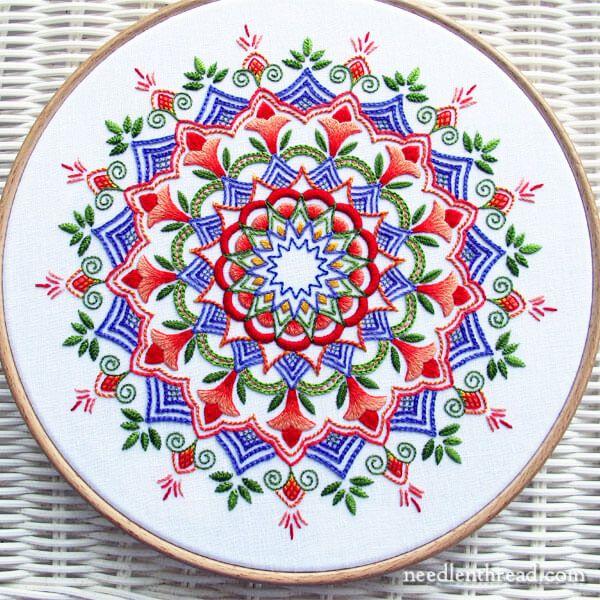 Embroidered Kaleidoscope - Finished