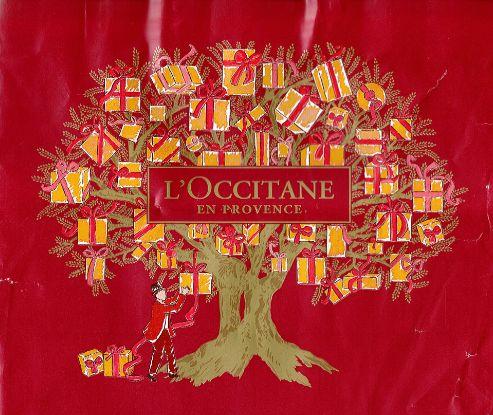 L'occitane  christmas paper bag