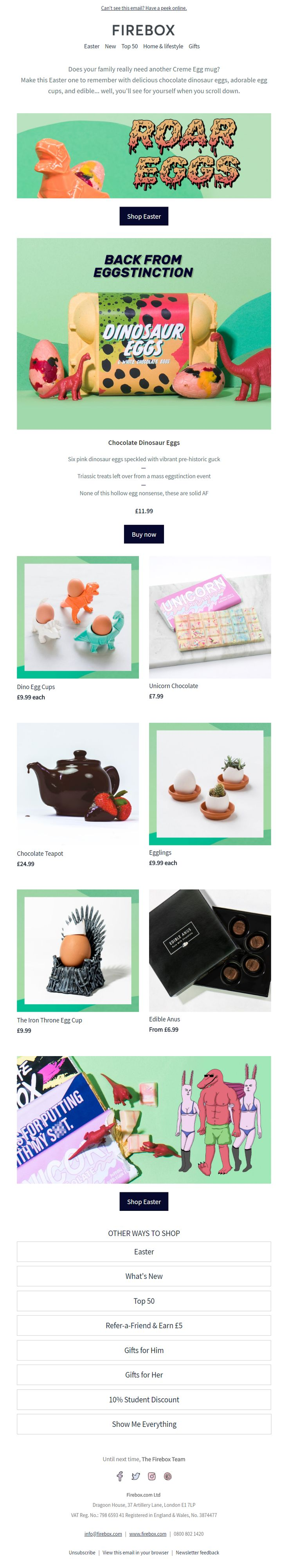 123 best easter emails images on pinterest easter email from firebox emailmarketing email marketing easter eggs gifts negle Gallery