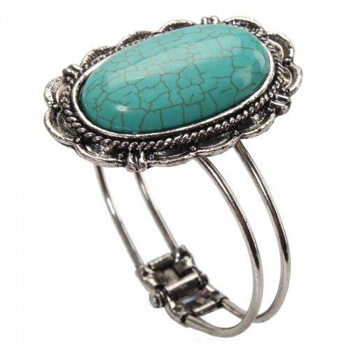 Oval Turquoise Bracelet 04 | favwish - Jewelry on ArtFire