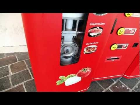 """Fresh Pizza Making Vending Machine [Video] - This """"Let's Pizza"""" vending machine in Italy makes a fresh pizza from scratch in 2.5 minutes and all for 3 euros ($3,40)."""