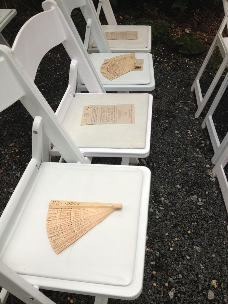 It's not a south Florida wedding without fans.  Real Weddings: Cooper Estate Miami