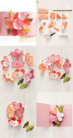 Cartes pop-up fleuries – Sakarton