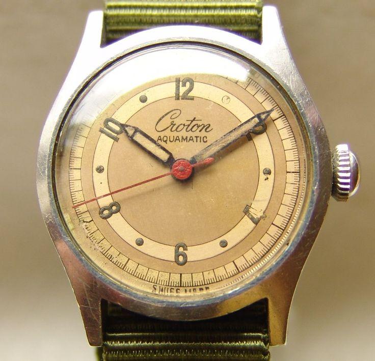 CROTON AQUAMATIC military style wristwatch  #military  #watches #vintage #ebay #men #fashion