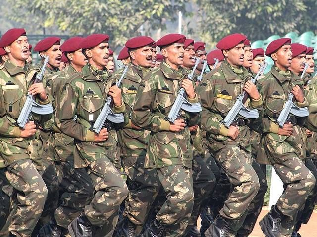 Indian Army Para Commandos On Parade With VZ.58 Assault