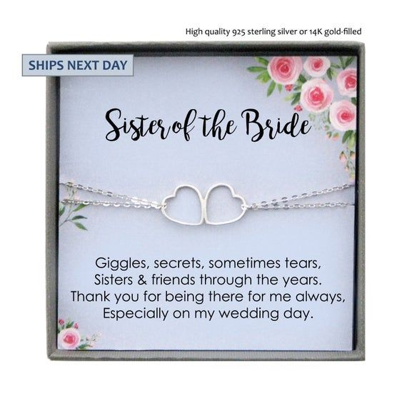 Sister Wedding Gift From Bride To Sister Of The Bride Gift Bracelet Gift To Sister On Wedding Day Mother Of The Groom Gifts Bride Gifts Wedding Day Gifts