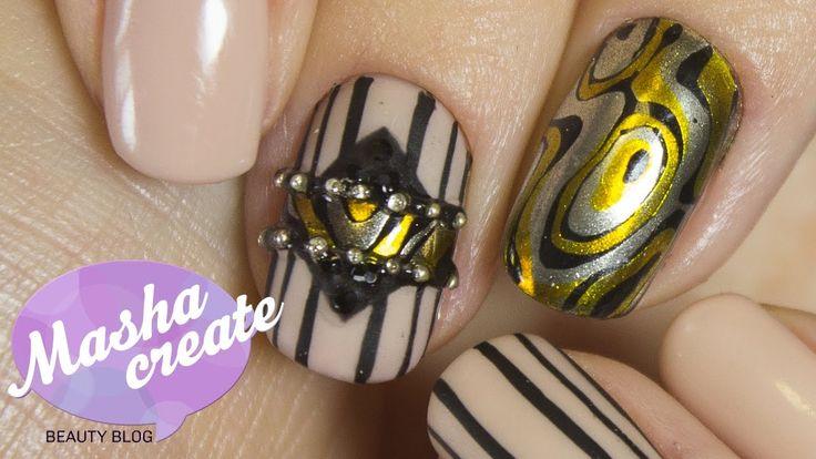 """Маникюр Зеркальные ногти """"Мокуме гане"""". Дизайн ногтей с Зеркальной Втирк..."""