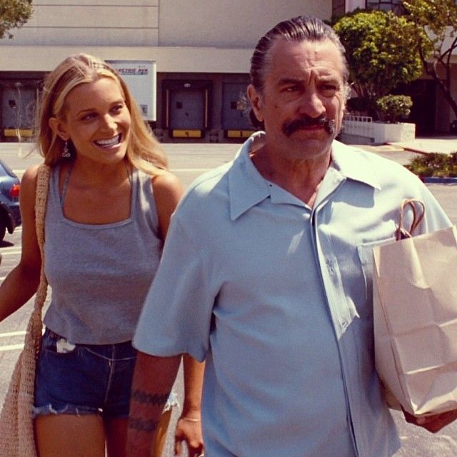 Bridget Fonda as Melanie Ralston & Robert De Niro as Louis Gara in Jackie Brown-She tormented him in this scene!!!!