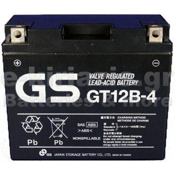 Μπαταρία μοτοσυκλετών GS AGM (factory activated) GT12-B4 - 12V 10Ah (10HR) - 180 CCA(EN) εκκίνησης