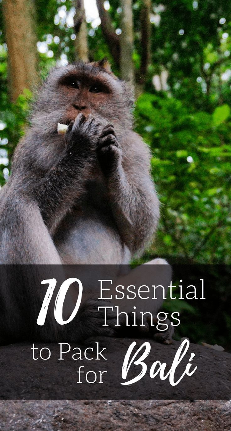 Traveling to the beautiful island of #Bali soon and don't know what to pack? Check out this list of 10 essential things to pack for #Bali, #Indonesia!   #travel #packinglist #thingstopack