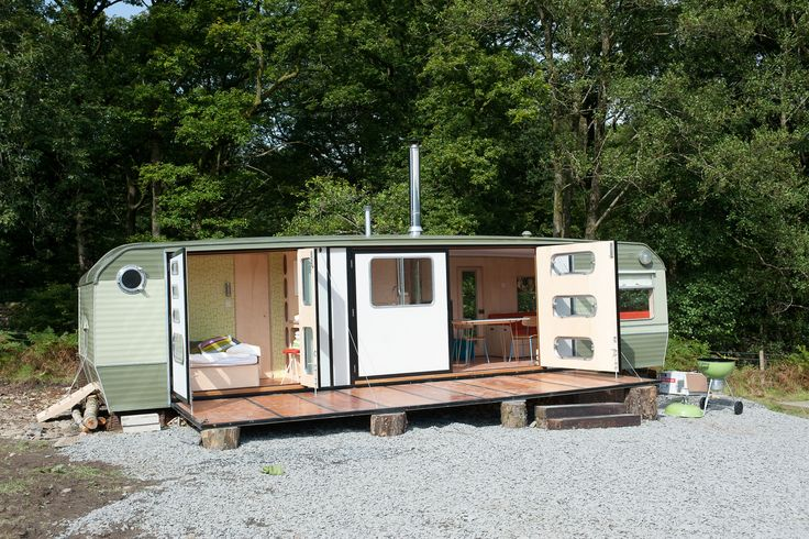 George Clarke's Amazing Spaces - from Shedblog...love that camper needs an awning and side screens