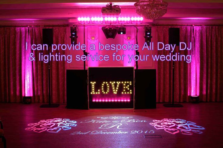 I can provide an All Day DJ package and lighting service for your wedding at Rhinefield House - DJ Martin Lake