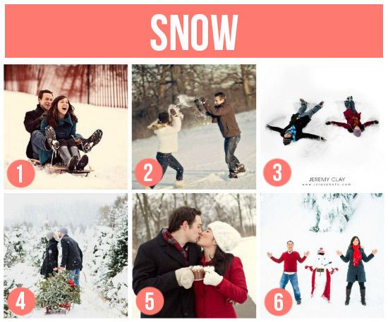 Fun photo shoot ideas- love this one in the snow