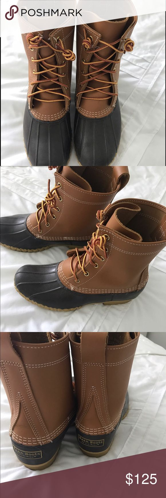 Ll bean boots / 8 inch Only wore once.They are too big for me . L.L. Bean Shoes Winter & Rain Boots