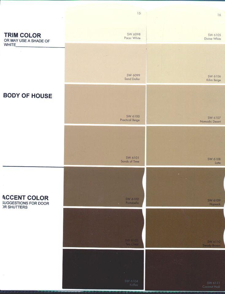Exterior Paint Colors Color Charts Interior Raadiye Com Shades Of Brown