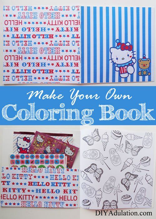 a diy coloring book easily is perfect as a gift for your kids or yourself - How To Make Your Own Coloring Book
