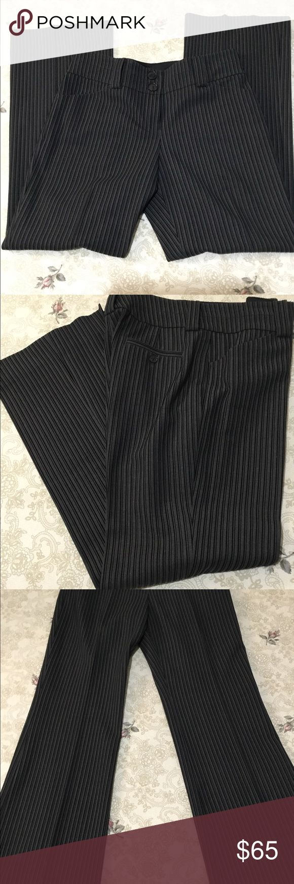 """Per Se Designer Career Trousers Very high end designer trousers designed to go from day to evening. You can't find these in retail stores, only direct sales by Fashion Consultants and trunk shows. Per Se uses the same fabric mills as Chanel, Ungara and Valentino. It was interesting trying to research this brand. It's part of Carlisle and they have showrooms in NYC and Greenwich Ct. Pants run from $265 to $425. These are beautiful. Approximate measurements 32"""" waist, 29"""" Inseam, 39""""…"""