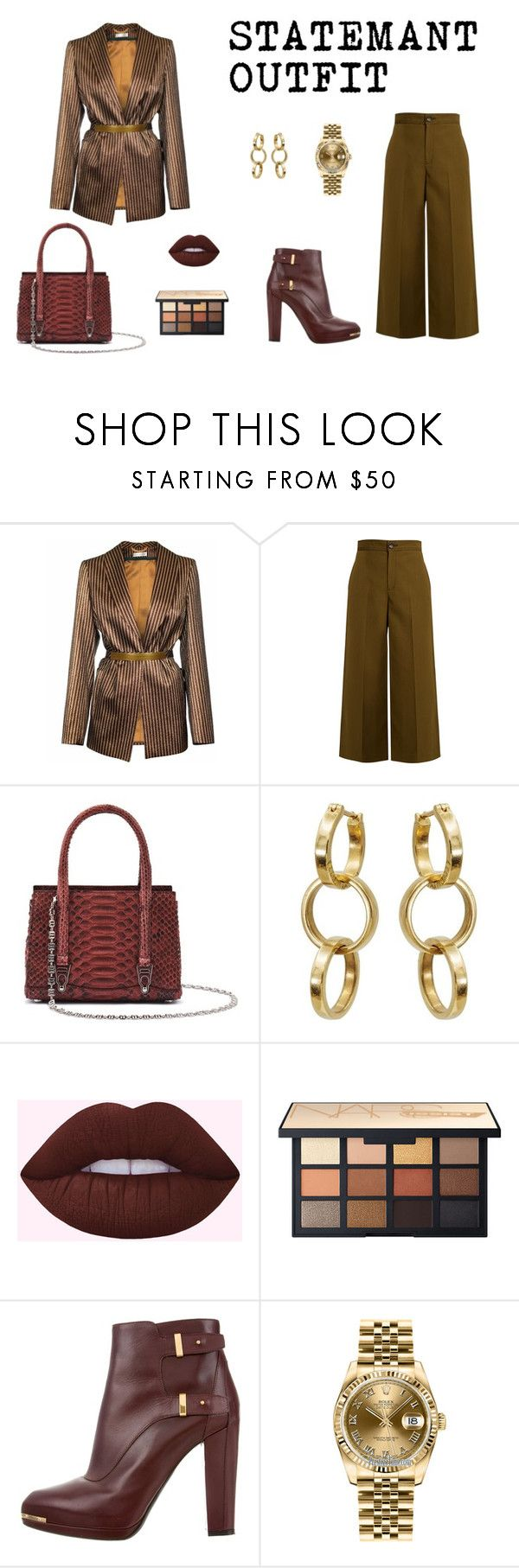 """Statemant Outfit"" by d-rose0181 on Polyvore featuring JIRI KALFAR, Joseph, La Perla, Belstaff and Rolex"