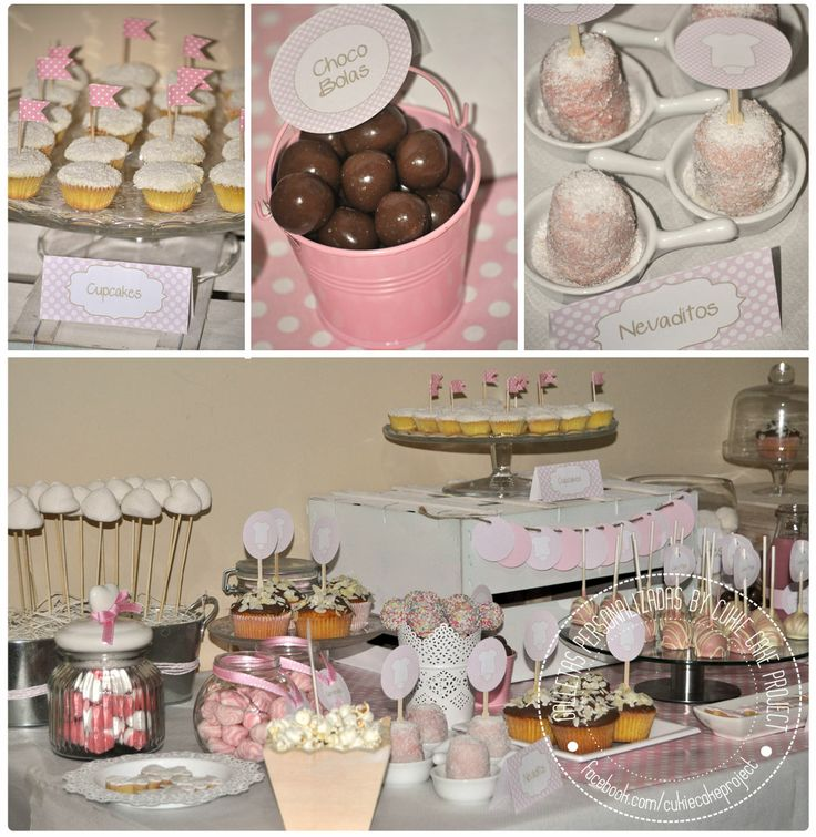 Candy table para baby shower rosa / Mesa dulce by Cukie Cake Project  http://cukiecake.wordpress.com/