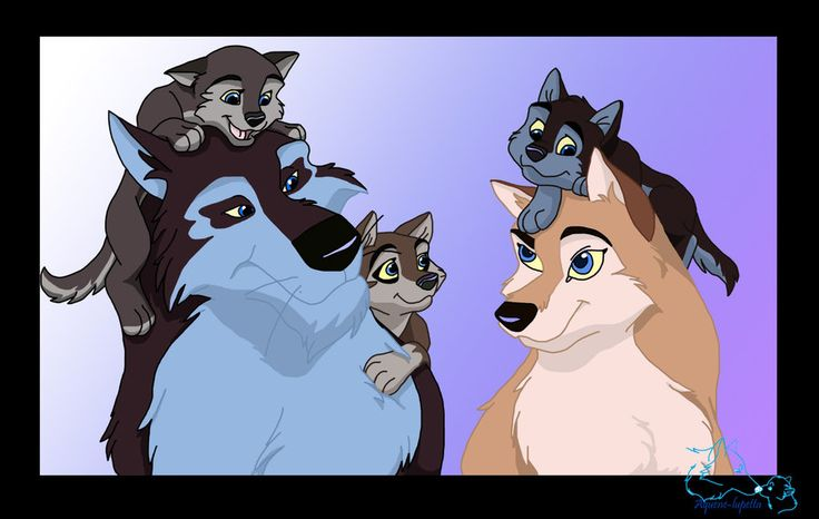 Aleu and her Husband Niju and her Pups of her own. Pretty ...