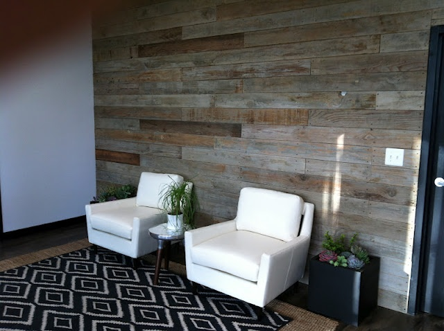 Love the rustic boards on the one wall. A good DIY to transform a room!