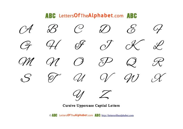 Worksheets Alphabet In Cursive Capital Letters cursive letters chart and on pinterest