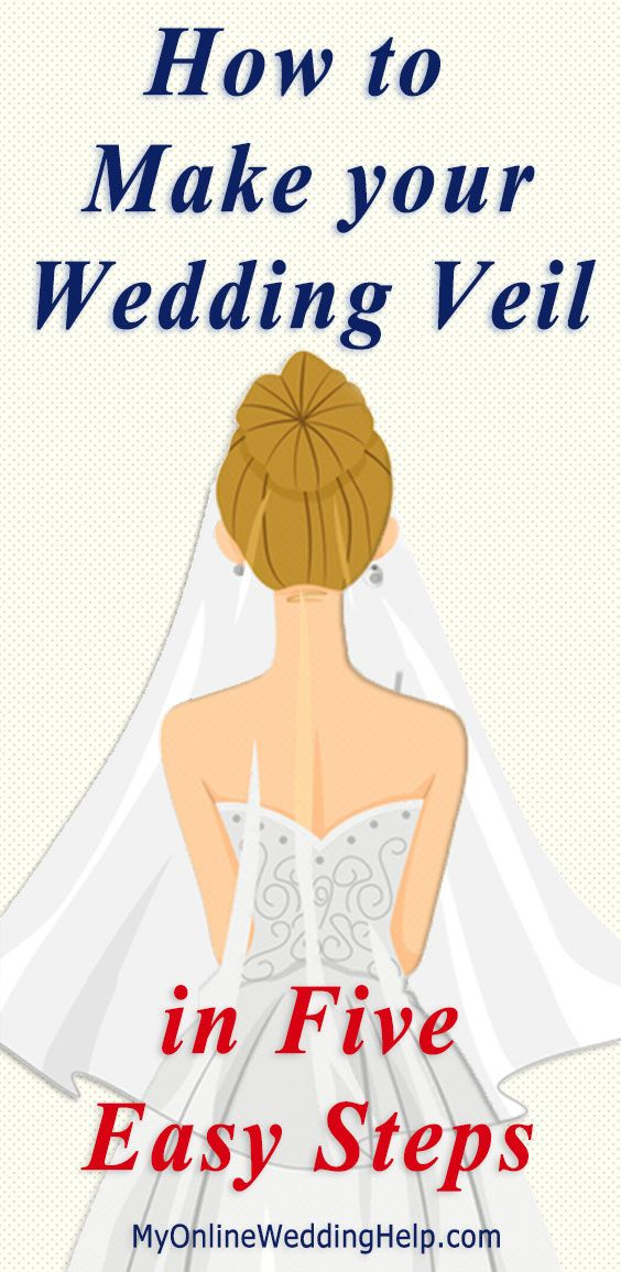 Step-by-step instructions and videos showing how to make your own wedding veil.